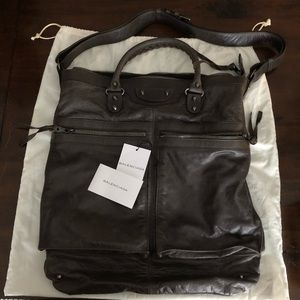 Balenciaga Leather Messenger Handbag